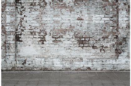 Stenen Muur Wit : Fotobehang stenen muur de fabriek muurstickers