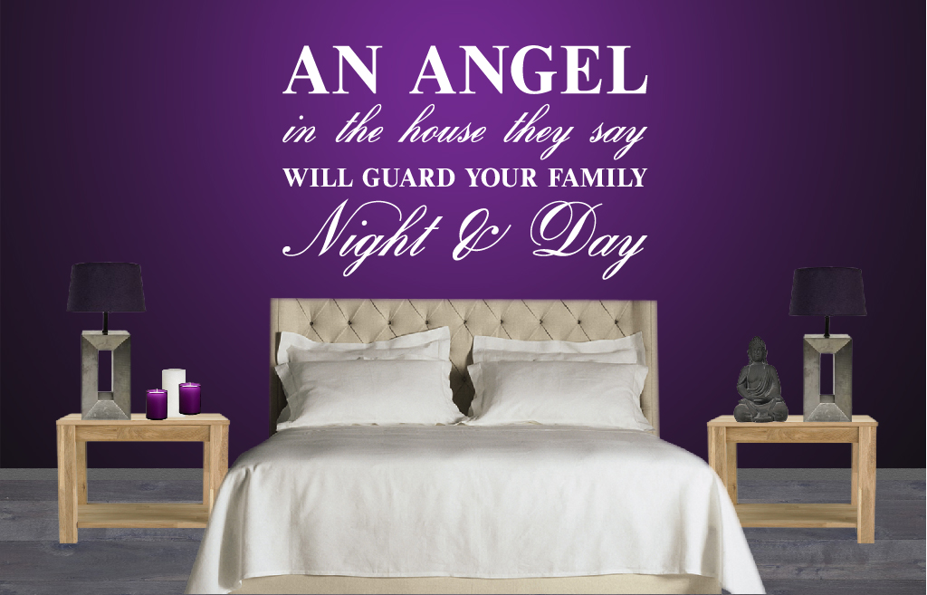 Slaapkamer Baby Donker : Angel in the house De Fabriek Muurstickers