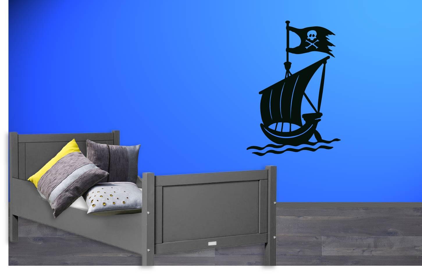 Muurstickers Kinderkamer Piraat.Muursticker Piratenboot De Fabriek Muurstickers