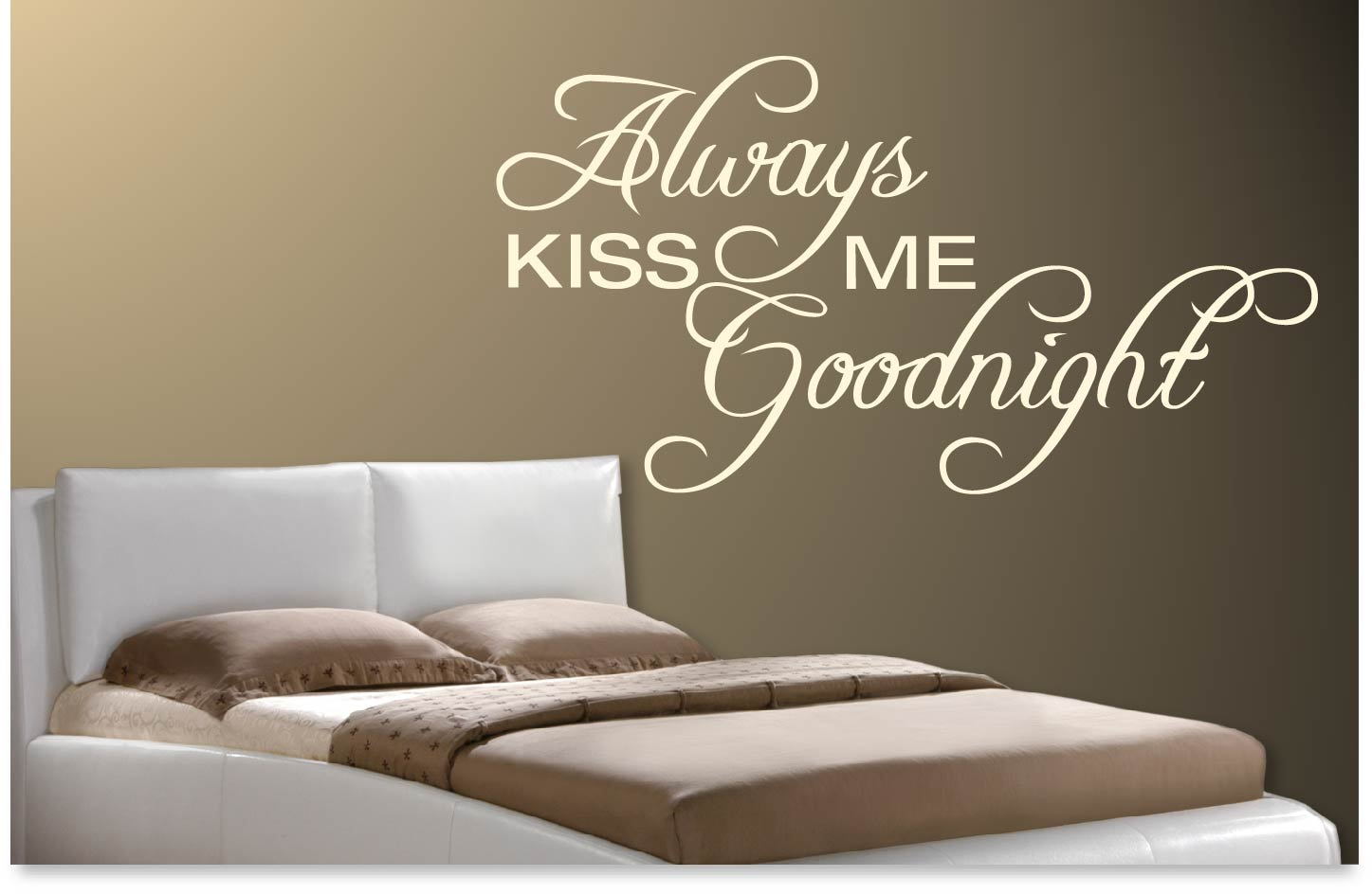 Muursticker Always kiss me goodnight | De Fabriek Muurstickers.