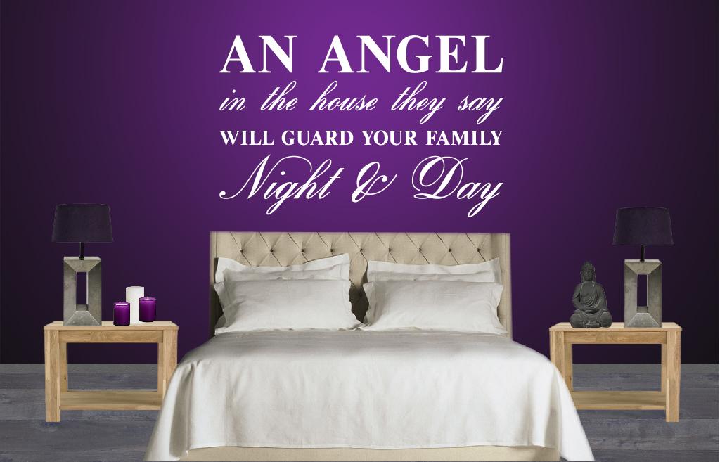 Idee woonkamer ideeen zwart wit : Muursticker Angel in the house : De Fabriek Muurstickers