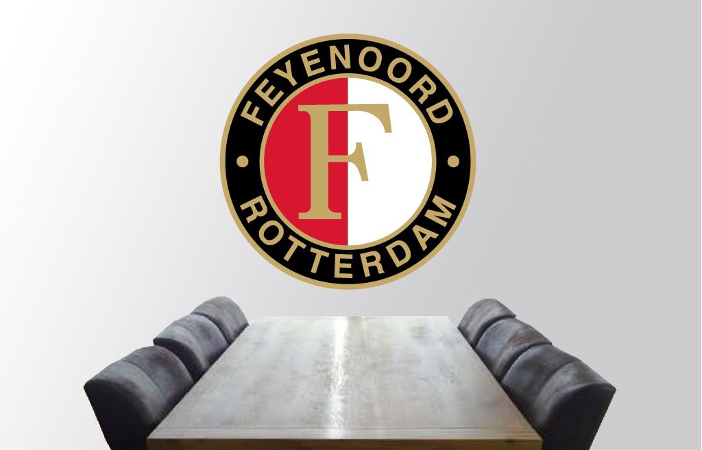Muursticker Feyenoord  De Fabriek Muurstickers