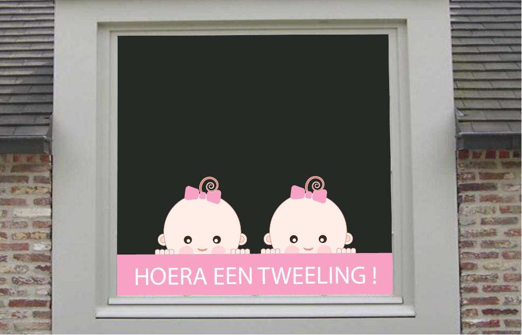 Tweeling Baby Slaapkamer : Tweeling meisjes De Fabriek Muurstickers