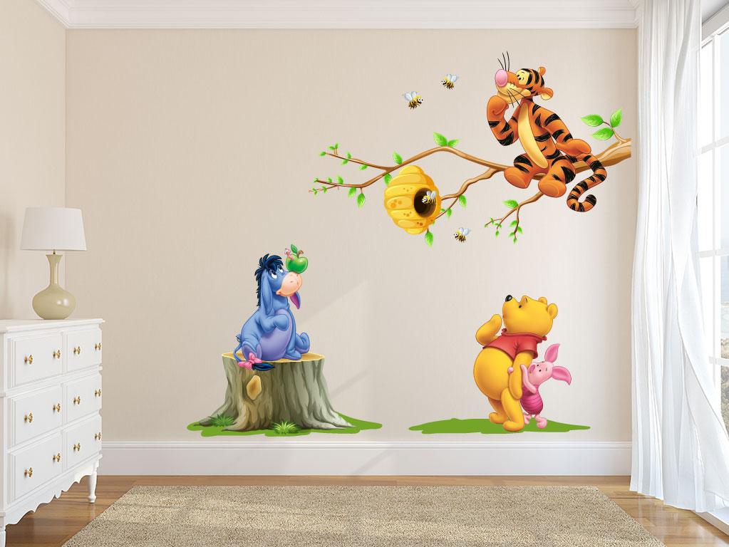 Muursticker Winnie The Pooh.Muursticker Winnie The Pooh Met Vriendjes De Fabriek Muurstickers