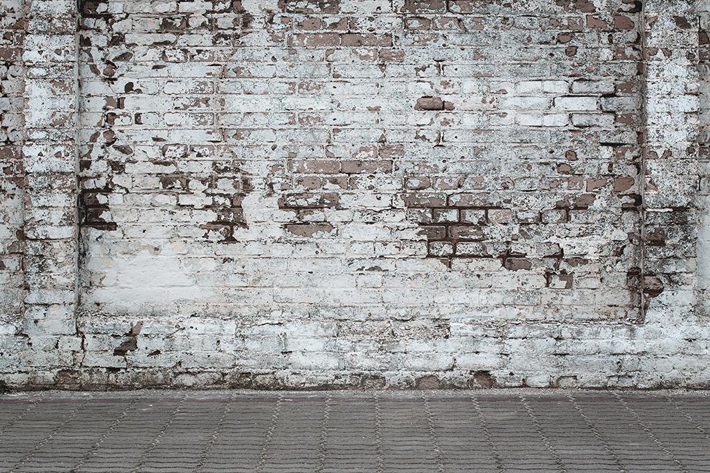 Fotobehang Oude Witte Muur De Fabriek Muurstickers